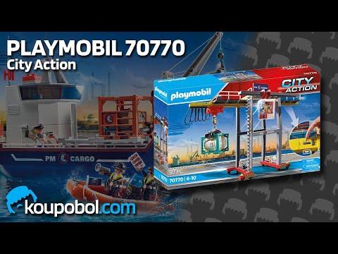 Vidéo PLAYMOBIL City Action 70770 : Portique de chargement pour conteneur