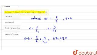 sum of two rational numbers is