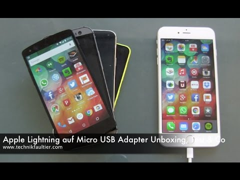 Apple Lightning auf Micro USB Adapter Unboxing, Test & mehr