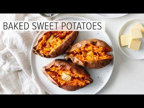 BAKED SWEET POTATO | how to bake sweet potatoes perfectly