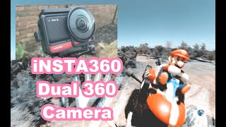 INSTA360 ONE R DUAL 360 CAMERA COLLAB SUPER MARIO!! 4K DJI FPV DRONE VIDEO!!