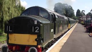 preview picture of video 'Epping Ongar Railway - D6729 leaving Onger 9.8.12'