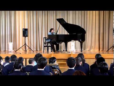 被災地・仙台の中学校で 原田真二さんが励ましのメッセージ