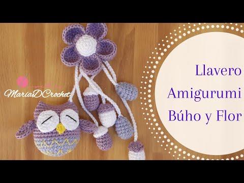 Primera parte | Llavero Búho con flor | Keychain Amigurumi Búho | MaríaDCrochet