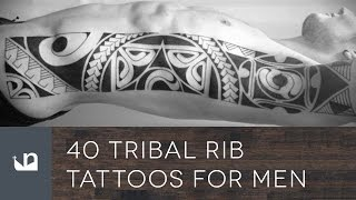 40 Tribal Rib Tattoos For Men