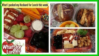 What I packed my Husband for Lunch this week | Lunch Ideas!