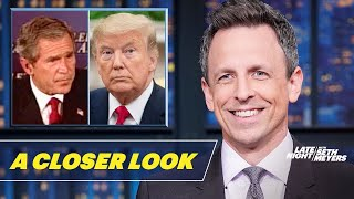 Seth takes a closer look at a new poll saying a majority of Americans disapprove of President Trump's handling of Iran, as the president's own team struggles to defend his lies and borrows directly from George W. Bush's playbook.  Subscribe to Late Night: http://bit.ly/LateNightSeth   Watch Late Night with Seth Meyers Weeknights 12:35/11:35c on NBC.   Get more Late Night with Seth Meyers: http://www.nbc.com/late-night-with-seth-meyers/   LATE NIGHT ON SOCIAL Follow Late Night on Twitter: https://twitter.com/LateNightSeth Like Late Night on Facebook: https://www.facebook.com/LateNightSeth Follow Late Night Instagram: http://instagram.com/LateNightSeth Late Night on Tumblr: http://latenightseth.tumblr.com/   Late Night with Seth Meyers on YouTube features A-list celebrity guests, memorable comedy, and topical monologue jokes.   GET MORE NBC Like NBC: http://Facebook.com/NBC Follow NBC: http://Twitter.com/NBC NBC Tumblr: http://NBCtv.tumblr.com/ YouTube: http://www.youtube.com/nbc NBC Instagram: http://instagram.com/nbctv   Trump's Team Can't Defend His Shifting Iran Lies: A Closer Look- Late Night with Seth Meyers https://youtu.be/SssTQxVIlu8   Late Night with Seth Meyers http://www.youtube.com/user/latenightseth