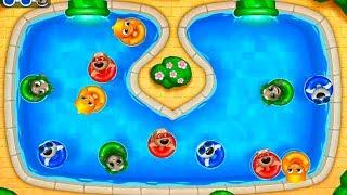 ГОВОРЯЩИЙ ТОМ АКВАПАРК ОХОТА ЗА ЯЙЦАМИ  #6 мультик игра видео для детей  Talking Tom Pool Egg Hunt