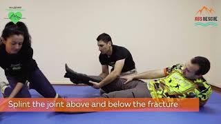First Aid Leg injury