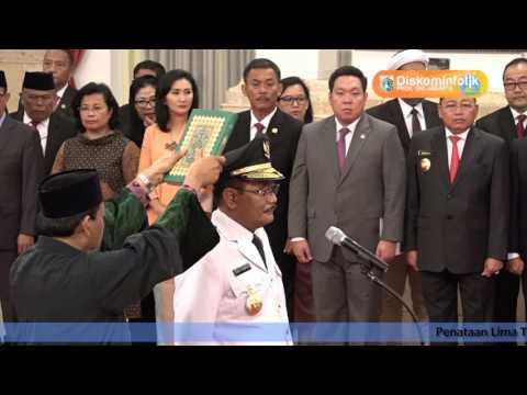 15 Juni 2017 Pelantikan Djarot S. Hidayat Sebagai Gubernur oleh Presiden RI