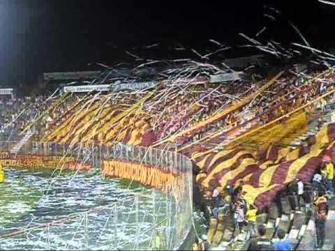 """""""Revolución Vinotinto Sur 2014 (Deportes Tolima 2 - Nacional 0)"""" Barra: Revolución Vinotinto Sur • Club: Tolima"""