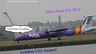 preview picture of video '**Special** Flybe Purple Dash8 G-JECF London City'