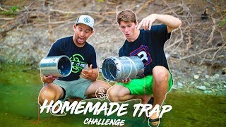 HOMEMADE FISH TRAP CHALLENGE in CLEAR CREEK