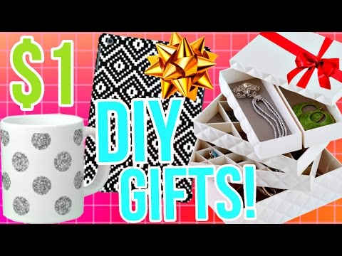 DIY Holiday Gift Ideas! Easy & Affordable gifts for a $1!