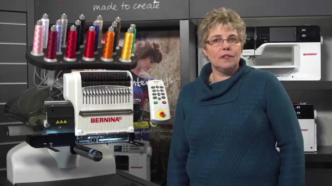 BERNINA E 16 Tutorial: How to change thread in the BERNINA E 16