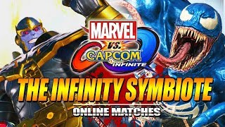 THE INFINITY SYMBIOTE: Thanos X Venom  - Marvel Vs. Capcom Infinite Online Matches