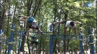 В Кремлевском парке открылась новая воркаут-площадка