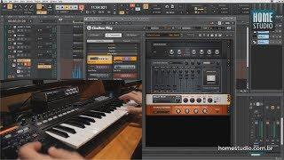 Produção musical com instrumentos VST
