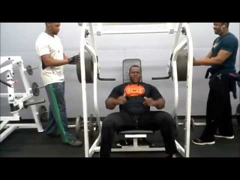 550 pounds for 2 reps shoulder press machine  IRON BIBY