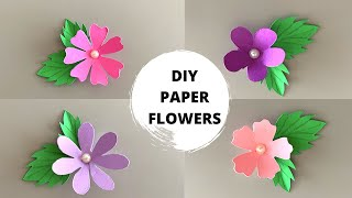 DIY SMALL PAPER FLOWER TUTORIAL | Handmade Paper Craft Ideas