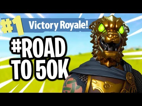 Fortnite Battle Royale WINS Grinden + 50K GIVEAWAY! | #ROADTO50K