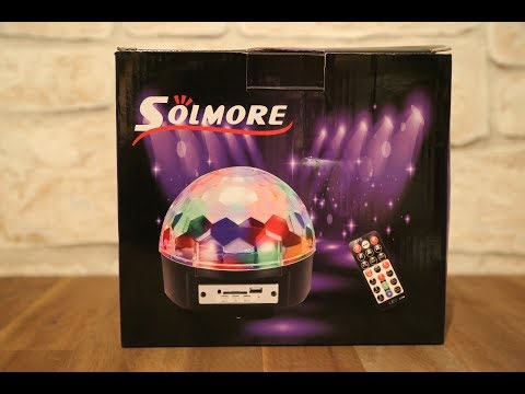 [Review/Unboxing] Riesen LED Discokugel (Mit Sound) [by.Solmore] FULL HD