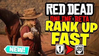 Red Dead Redemption 2 Online - RANK UP FAST! (Red Dead Online Beta)