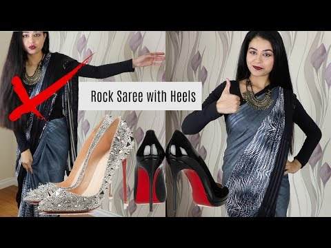 How to Walk in Heels Wearing a Saree   How to walk in Heels   How to wear a Saree