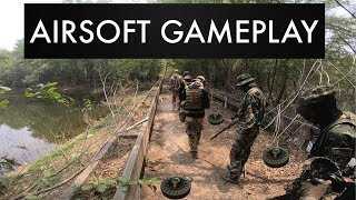 Airsoft Sniper ข้ามสะพานที่เต็มไปด้วยกับระเบิด l Milsim Thailand #7 - dooclip.me