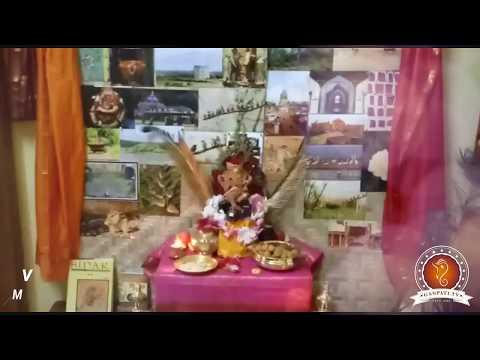 Vinayak Vangapalli Home Ganpati Decoration Video