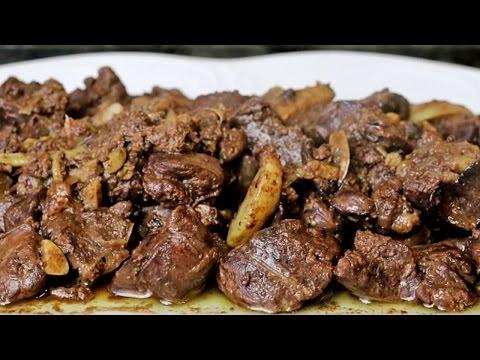 Higaditos de pollo al ajillo - Hígados de pollo en salsa de ajo