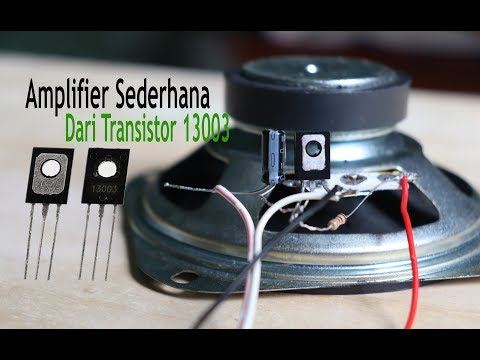 How to make 13003 transistor amplifier at home easy