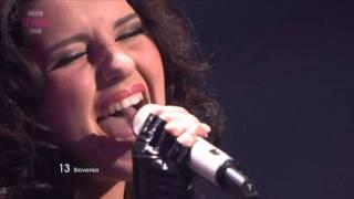 "Slovenia: ""No One"", Maja Keuc - Eurovision Song Contest Semi Final 2011 - BBC Three"