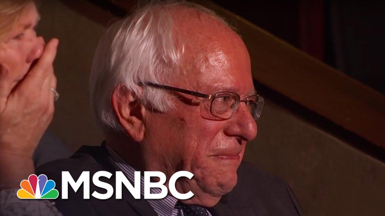 Bernie Sanders Tears Up As His Brother Nominates Him   Rachel Maddow   MSNBC thumbnail