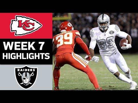 Chiefs vs. Raiders | NFL Week 7 Game Highlights