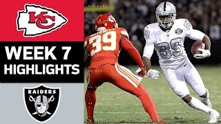 Chiefs vs. Raiders | NFL Week 7 Game Highlights