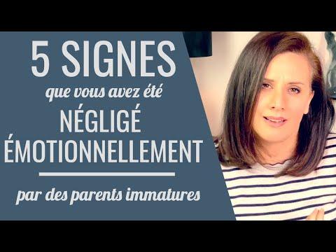 Signes de négligence émotionnelle