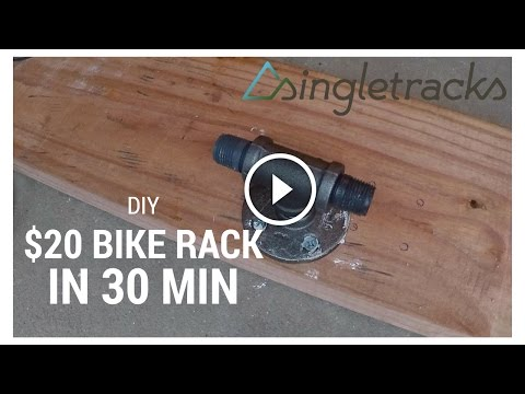 DIY: How To Build a Fork Mount Bike Rack for $20 in 30 Minutes