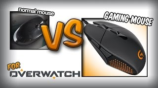 Overwatch: Do you need a gaming mouse? Logitech G303 vs Normal mouse