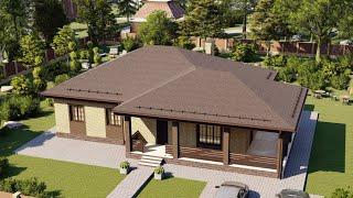Проект дома 140-B, Площадь дома: 140 м2, Размер дома:  13x18,5 м