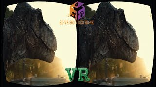 VR VIDEO 3D Fighting Dinosaurs | 3D Cardboard | VR BOX| Dinosaur VS Dinosaur-Google VR SBS 1080