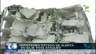 preview picture of video 'Estado de alerta en Idlib tras explosiones'