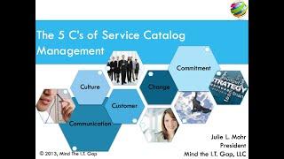 The Five C's of Service Catalog Management