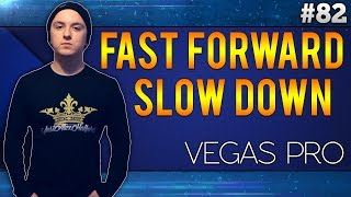 Sony Vegas Pro 13: How to Fast Forward/Slow Down Clips - Tutorial #82