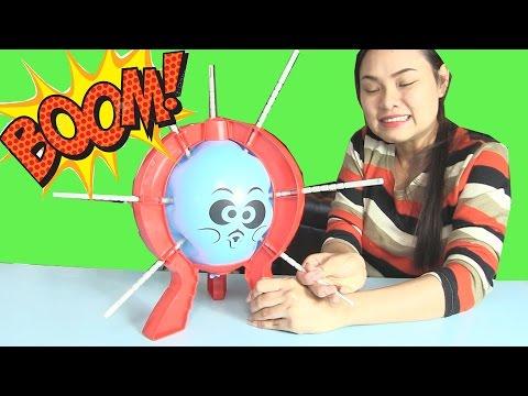 Trò Chơi Thách Chọc Thủng Bong Bóng Boom Boom balloon - Hình Phạt Ăn Chuối Chấm Muối Và Tương Cà