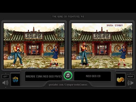 The King of Fighters '94 (Arcade vs Neo Geo Cd) Side by Side Comparison