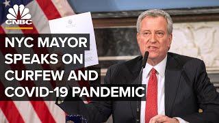 New York City Mayor Bill de Blasio holds a briefing after city curfew — 6/2/2020