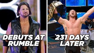 10 Wrestlers Who Became WWE Champion The Quickest
