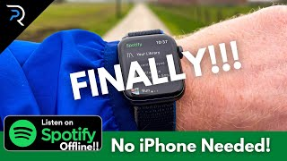 OFFLINE Spotify Apple Watch!! (How to use Spotify on Apple Watch Without Phone)