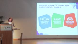 Analia Mendez - Unilever - Role of the private sector in improving water & sanitation